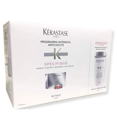 Kerastase Specifique Anticaduta Aminexil Force R 30 Fiale + Bain Prevention